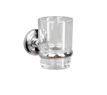 Valsan  M8003CR Oslo Chrome Glass Tumbler Holder