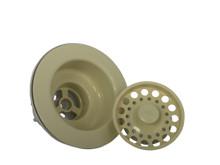 Opella 90066 Kitchen Sink Strainer Basket & Flange - Almond