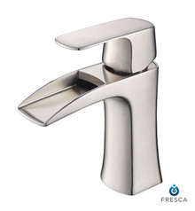 Fresca Fortore Single Hole Bathroom Vanity Faucet - Brushed Nickel