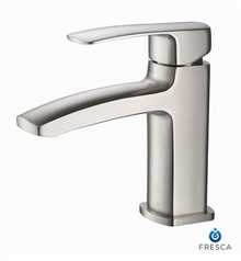 Fresca Fiora Single Hole Bathroom Vanity Faucet - Brushed Nickel