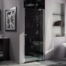 DreamLine  SHDR-4235728-01 Allure 35 to 36 in. Frameless Pivot Shower Door, Clear Glass Door in Chrome Finish