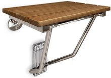 DreamLine  SHST-02-TN Natural Teak Folding Shower Seat. ADA Compliant Shower Seat