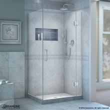 DreamLine  E12430-01 Unidoor-X 30-3/8 in. W x 30 in. D x 72 in. H Hinged Shower Enclosure in Chrome Finish