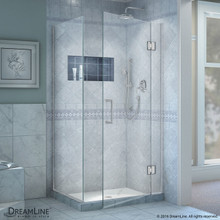 DreamLine  E12830-01 Unidoor-X 34-3/8 W x 30 in. D x 72 in. H Hinged Shower Enclosure in Chrome Finish
