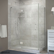 DreamLine  E32434L-01 Unidoor-X 48-3/8 in. W x 34 in. D x 72 in. H Hinged Shower Enclosure in Chrome Finish; Left-wall Bracket