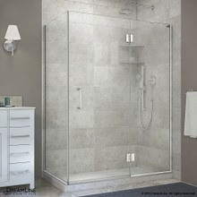 DreamLine  E32434R-01 Unidoor-X 48-3/8 in. W x 34 in. D x 72 in. H Hinged Shower Enclosure in Chrome Finish; Right-wall Bracket