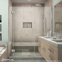 DreamLine  D12730572-01 Unidoor-X 63 1/2 - 64 in. W x 72 in. H Hinged Shower Door in Chrome Finish
