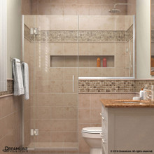 DreamLine  D1242434-01 Unidoor-X 54 - 54 1/2 in. W x 72 in. H Hinged Shower Door in Chrome Finish