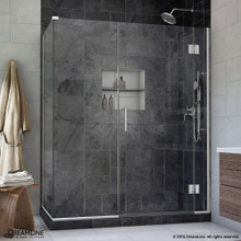 DreamLine  E1302234-01 Unidoor-X 58 in. W x 34.375 in. D x 72 in. H Hinged Shower Enclosure in Chrome Finish