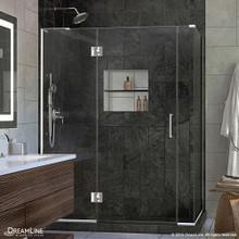 DreamLine  E32706534L-01 Unidoor-X 57.5 in. W x 34.375 in. D x 72 in. H Hinged Shower Enclosure in Chrome Finish; Left-wall Bracket