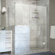 DreamLine  E128243436-01 Unidoor-X 58 in. W x 36.375 in. D x 72 in. H Hinged Shower Enclosure in Chrome Finish
