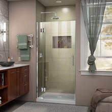 DreamLine  D12772-01 Unidoor-X 33 in. W x 72 in. H Hinged Shower Door in Chrome Finish