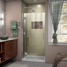 DreamLine  D12872-01 Unidoor-X 34 in. W x 72 in. H Hinged Shower Door in Chrome Finish
