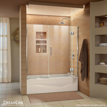 DreamLine  D58580-01 Unidoor-X 58 in. W x 58 in. H Hinged Tub Door in Chrome Finish