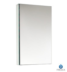 "Fresca  FMC8015 15"" Wide Bathroom Medicine Cabinet w/ Mirrors"