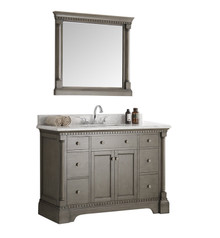 "Fresca  FVN2248SA Kingston 48"" Antique Silver Traditional Bathroom Vanity w/ Mirror"