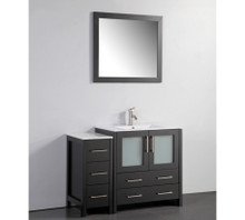 Vanity Art VA3030-42E 42 Inch Vanity Cabinet with Ceramic Sink & Mirror - Espresso