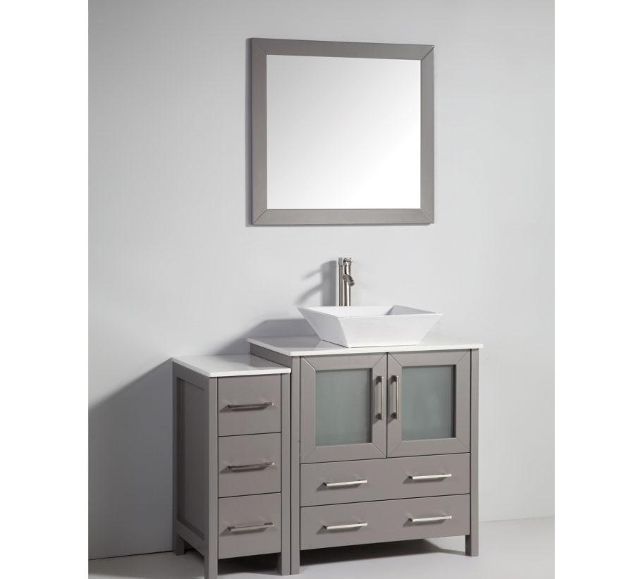 Vanity Art VA3130-42G 42 Inch Vanity Cabinet with Ceramic ...