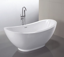 "Vanity Art VA6516 69"" Bathroom Freestanding Acrylic Soaking Bathtub - White"