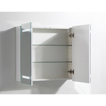 "Vanity Art VA7 Bathroom Medicine Cabinet with LED Lights on Mirror Doors 26"" W x 25"" H"