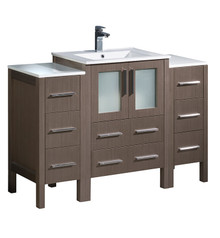 "FCB62-122412GO-I Fresca Torino 48"" Gray Oak Modern Bathroom Cabinets w/ Integrated Sink"