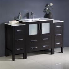 """Fresca  FCB62-123012ES-I Fresca Torino 54"""" Espresso Modern Bathroom Cabinets w/ Integrated Sink"""