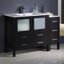 """Fresca  FCB62-3612ES-I Fresca Torino 48"""" Espresso Modern Bathroom Cabinets w/ Integrated Sink"""