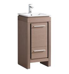 """FCB8118GO-I Fresca Allier 16"""" Gray Oak Modern Bathroom Cabinet w/ Sink"""