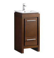 "FCB8118WG-I Fresca Allier 16"" Wenge Brown Modern Bathroom Cabinet w/ Sink"
