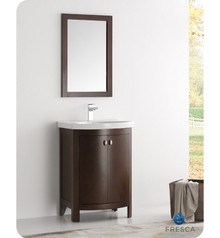 "FVN2301AC-CMB Fresca Greenwich 24"" Antique Coffee Traditional Bathroom Vanity"