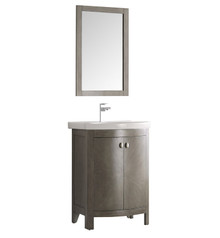"FVN2301SA-CMB Fresca Greenwich 24"" Antique Silver Traditional Bathroom Vanity"