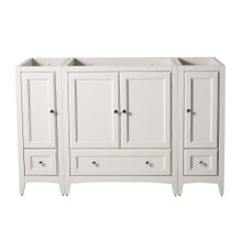 "Fresca  FCB20-123012AW Fresca Oxford 54"" Antique White Traditional Bathroom Cabinets"