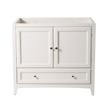 "Fresca  FCB2036AW Oxford 36"" Antique White Traditional Bathroom Cabinet"