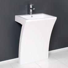 "Fresca  FCB5024WH Fresca Quadro 23"" White Vanity Pedestal Sink"