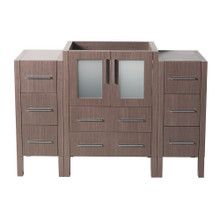 "Fresca  FCB62-122412GO Fresca Torino 48"" Gray Oak Modern Bathroom Cabinets"