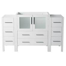 "Fresca  FCB62-123012WH Fresca Torino 54"" White Modern Bathroom Cabinets"