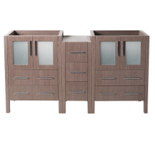 "Fresca  FCB62-241224GO Fresca Torino 60"" Gray Oak Modern Bathroom Cabinets"