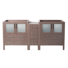 "Fresca  FCB62-361236GO Fresca Torino 83""-84"" Gray Oak Modern Bathroom Cabinet"
