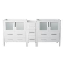 "Fresca  FCB62-361236WH Fresca Torino 83""-84"" White Modern Bathroom Cabinet"