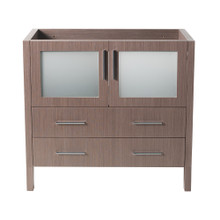 "Fresca  FCB6236GO Fresca Torino 36"" Gray Oak Modern Bathroom Cabinet"