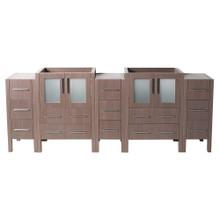 "Fresca  FCB62-72GO Fresca Torino 72"" Gray Oak Modern Bathroom Cabinets"