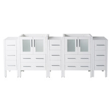 "Fresca  FCB62-72WH Fresca Torino 72"" White Modern Bathroom Cabinets"