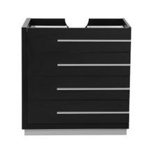 """Fresca  FCB8030BW Fresca Livello 30"""" Black Modern Bathroom Cabinet"""