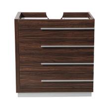 """Fresca  FCB8030GW Fresca Livello 30"""" Walnut Modern Bathroom Cabinet"""