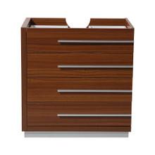 """Fresca  FCB8030TK Fresca Livello 30"""" Teak Modern Bathroom Cabinet"""