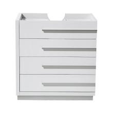 """Fresca  FCB8030WH Fresca Livello 30"""" White Modern Bathroom Cabinet"""