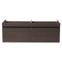 "Fresca  FCB8040GO Fresca Largo Gray Oak 57"" Wall Hung Modern Double Sink Bathroom Cabinet"