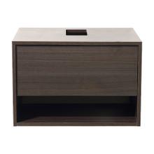 "Fresca  FCB8070GO Fresca Potenza Gray Oak 28"" Wall Mount Modern Bathroom Cabinet"
