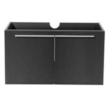 "Fresca  FCB8090BW Fresca Vista Black 36"" Wall Mount Modern Bathroom Cabinet"