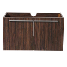"Fresca  FCB8090GW Fresca Vista Walnut 36"" Wall Mount Modern Bathroom Cabinet"